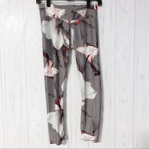 Fabletics Floral Gray Leggings Size XS